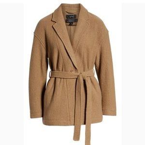 J. Crew Carmel Wrap Coat In Italian Boiled Wool